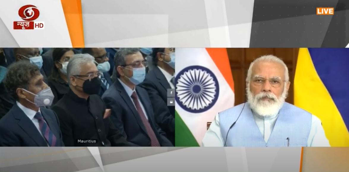 ભારત અને મોરેશિયસના PMએ સંયુક્તપણે મોરેશિયસના નવા SC ભવનનું ઉદ્ધાટન કર્યુ